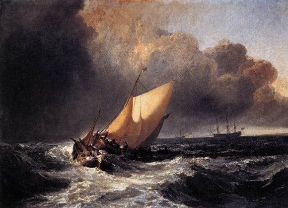 Storm Sturm Joseph Mallord William Turner   Dutch Boats in a Gale   WGA23163 580x418 Storm in Art   Sturm in der Kunst Turner
